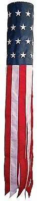 """60"""" USA WindSock Embroidered American Flag Wind Sock FAST SHIP by FanzofSportz"""