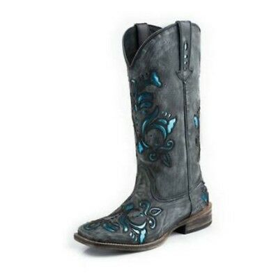 21e3dff53 Roper Women s Fashion with Bling Black Leather Western Boot  09-021-0901-