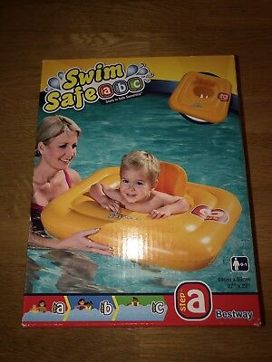 BESTWAY BABY SEAT 0-12 MONTH SWIMSAFE SUPPORT SWIMMING AID INFLATABLE Float Ring