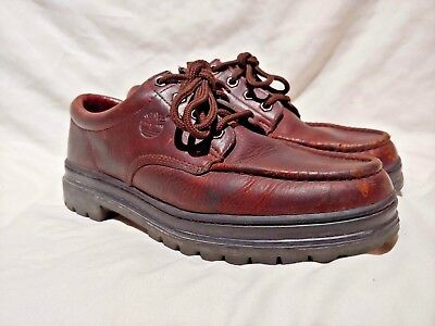 clearance sale yet not vulgar popular stores TIMBERLAND BROWN LEATHER Low Cut Hiking Boots Oxford Shoes ...