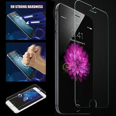 Genuine Premium Real 9H Tempered Glass Film Screen Protector for Apple iPhone