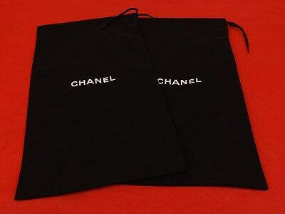Set of 2 NEW CHANEL Dust Bags for Shoes or Clutch Purse 8.1/4 x 14.3/4""