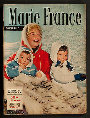 'marie-France' French Vintage Magazine Winter Fashion Issue February 1957