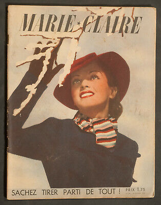 'marie-Claire' French Vintage Magazine 14 January 1938