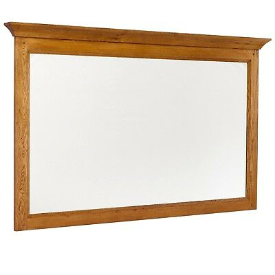 VERY LARGE HUGE - SOLID OAK FRAMED OVERMANTLE MIRROR - 1.7m X 1.03m X 8cm TOP