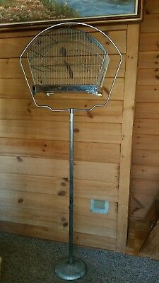 """Vintage Crown Bird Cage With Stand, 64"""" H"""