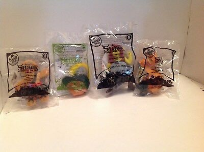 4 SHREK FOREVER AFTER McDonalds Happy Meal Toys SEALED 2010 -GINGY + 3 More!