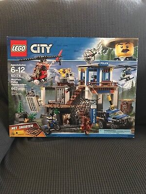 LEGO Baukästen & Sets LEGO Bau- & Konstruktionsspielzeug New 2018! 60174 LEGO City Police Mountain Police Headquarters 663 Pieces Age 6