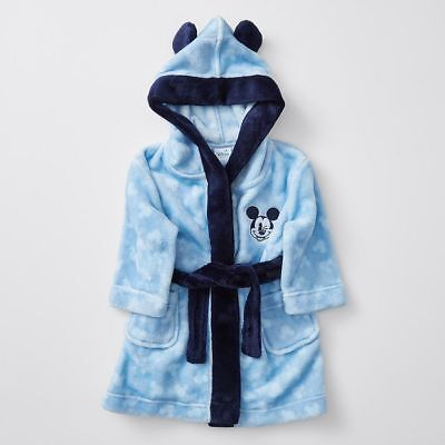 NEW Disney Baby Mickey Mouse Hooded Dressing Gown
