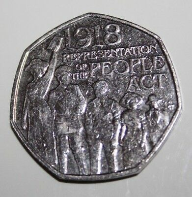 Rare 2018 The People Act 1918 50p coins Fifty Pence Coin Collectable