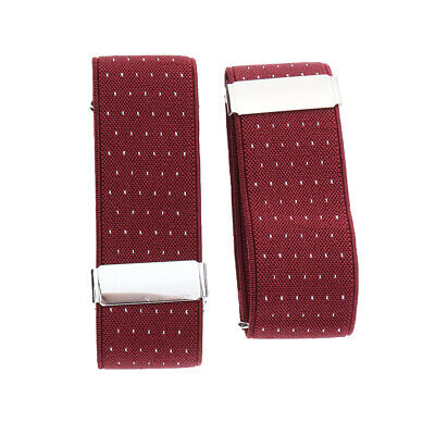 Pair Vintage Style Sleeve Holders Armbands Stretch Jacquard Shirt Garters