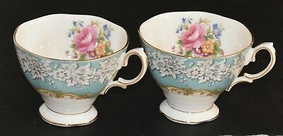 Royal Albert ~ Enchantment ~ Pair Of Vintage Spare Tea Cups ~ Ideal Replacements