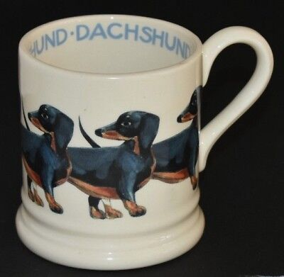 Emma Bridgewater ~ Dogs Dachshund Half Pint Mug ~ Made In Stoke On Trent