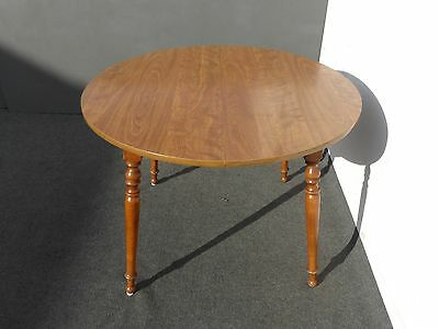 Vintage Ethan Allen French Country Cottage Dining Room Table w 1 Leaf Card Table