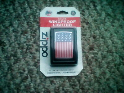 Zippo - American Flag - Windproof Lighter - NEW SEALED