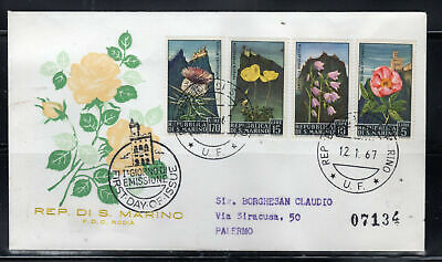 1967 San Marino Europe Stamps Cover First Day Fdc Lot 103