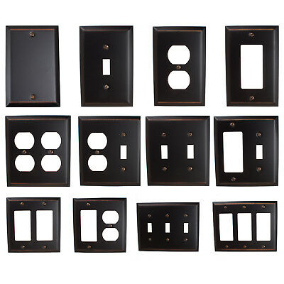 GlideRite Oil Rubbed Bronze Light Switch Cover & Duplex Outlet Wall Plates