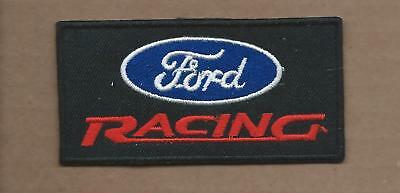 New 1 3/4 X 3 1/2 Inch Ford Racing Iron On Patch Free Shipping
