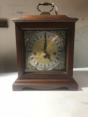 Howard Miller Chime Mantle Windup Clock Model 340-020 W/ Key