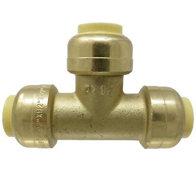 "1/2"" Sharkbite Style PUSH FIT Tee Lead Free Brass - PEX GUY"