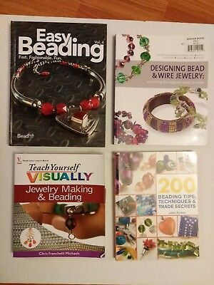Jewelry Making Books Lot of 4 Very Good Condition Beading Techniques