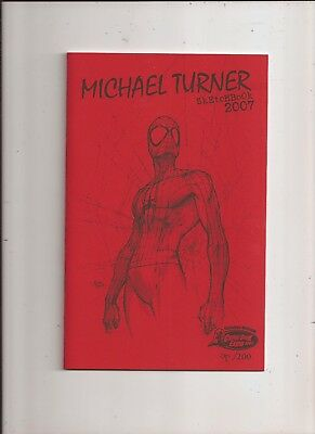 Michael Turner Sketchbook 2007 Canadian Comic Expo OP Edition NM RARE Spiderman
