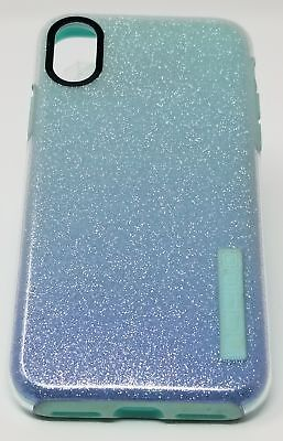cheap for discount a8936 98ef1 INCIPIO DUALPRO GLITTER Case Design Series For iPhone XS and X Mint ...