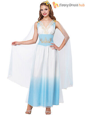 Ladies Roman Empress Costume Greek Woman Goddess Ancient Toga Fancy Dress Outfit