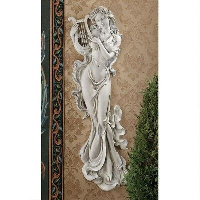 "30"" Greek & Roman Mythological -  Musical Daughter of Zeus Wall Sculpted Decor"