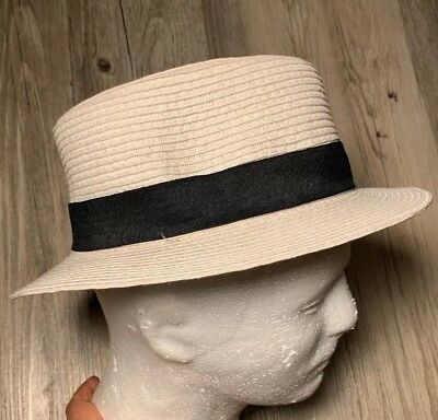 98a089755d5f5 The Hatter Company Fedora Straw Hat Cap Small Medium Style 5109