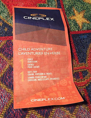 Cineplex Child Adventure Gift Certificate