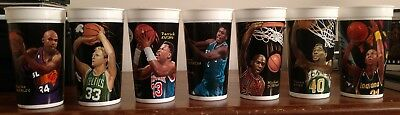 NBA Looney Tunes All-Star Showdown McDonald's Cups Lot Complete Set of 7 1995