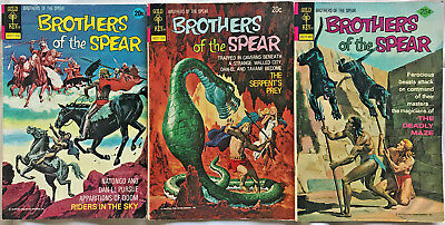 Brothers Of The Spear#5-10 Fn/Vf Lot 1973 (3 Books) Gold Key Bronze Age Comics