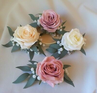 Rose Hair Comb Clip Barrette Wedding Hair Flower Boho, Rustic Garden