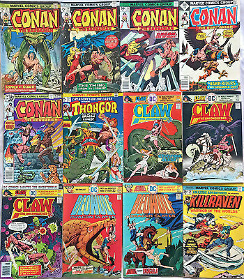 Bronze Age Lot Of Sword & Sorcery Comic Fn-Vf Lot Conan, Claw Etc(12 Books)