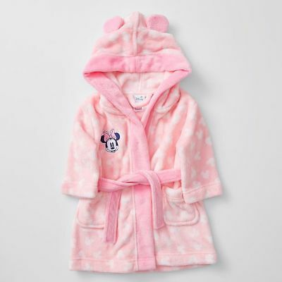 NEW Disney Baby Minnie Mouse Hooded Dressing Gown