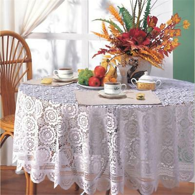 Vintage Rectangle Round Tablecloth Hand Knit Daisy Lace Table Cloth Home Decor