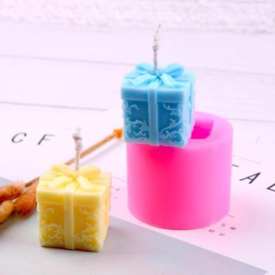 3D Christmas Gift Aroma Candle Molds Silicone Fondant Icing Soap Gypsum Mould