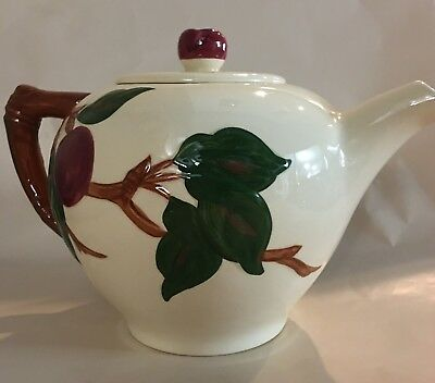Franciscan Pottery Apple Teapot, vintage, made in USA California