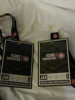2019 Chicago Cubs Convention Passes (2 Passes) Sold Out Event 1/18 - 1/20
