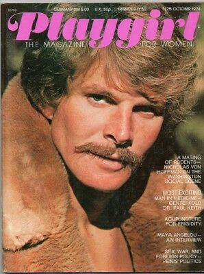 VINTAGE PLAYGIRL OCTOBER 1974! MAYA ANGELOU/Dr. PAUL KEITH/LEONARD LALUMIERE!GAY