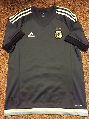 Argentina AFA Team Soccer Football Jersey Adidas size Medium Climacool Blue 3ed35632a