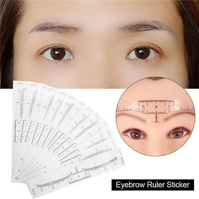 Reusable Makeup Brow Measure Eyebrow Guide Ruler Permanent Tools SW