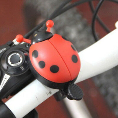 Kid Beetle Ladybug Ring Bell For Cycling Bicycle Bike Ride Horn Alarm SW