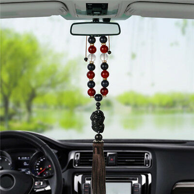 In Car Hanging Wood Beads & Buddha Buddhism Buddhist Charm Sacred Pendant SW