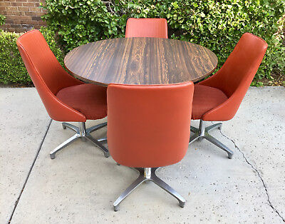 VINTAGE Chromcraft DANISH MID-CENTURY MODERN SpaceAge Dining Dinette Kitchen Set