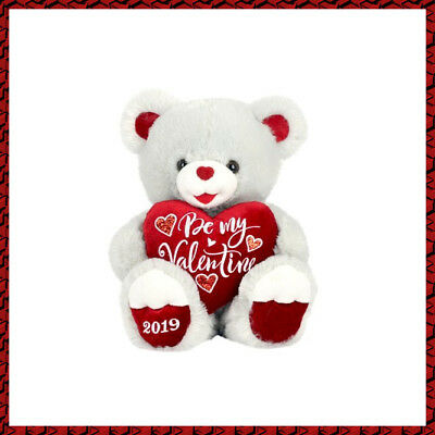 "Way To Celebrate 20"" Sweetheart Teddy - Valentines Day Be My Valentine Grey"