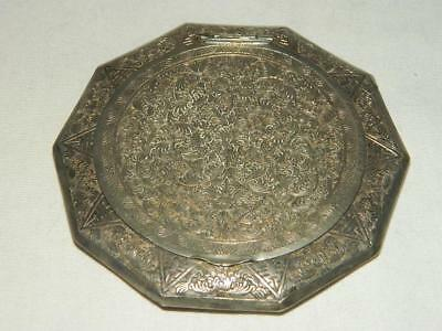 Antique Handcrafted Persian Sterling Silver Powder Compact