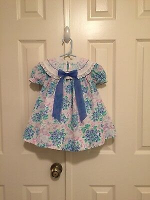 VTG - Floral Swing Dress w/Embroidered Collar - size 2T-3T