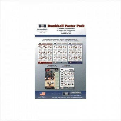 PowerBlock Dumbbell Workout Poster Pack. Power Block. Shipping is Free